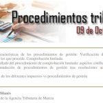 PROCEDIMIENTOS TRIBUTARIOS, DÍA 09.10.2018